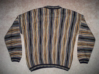 Tundra Canada Mercerized Cotton Sweater 3D Men's Size XL Crewneck Hip Hop Cosby