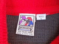 Vintage 70s Peregrine Men's Wool Colorful Rockabilly Pullover Jacket Sweater Size XL