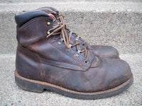 Red Wing Shoes Irish Setter Safety Steel Toe #86000 Men's Leather Boots Size 10