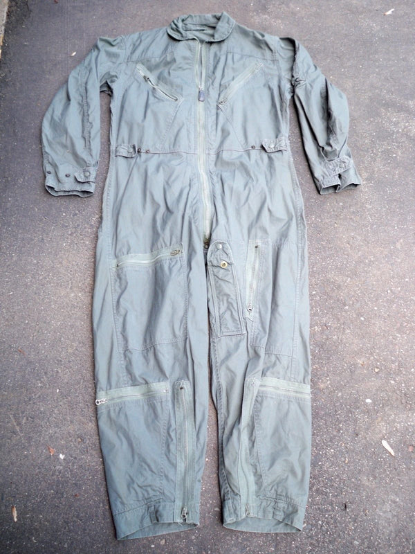 Vintage USAF Flying Allen Overall Vietnam Nam Era Air Force Suit Men's Medium Short