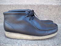 Clarks Originals #35401 Black Leather Chukka Crepe Sole Moccasin Men's Boots 11