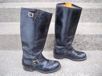 Vintage USA Made Harness Chopper Biker Motorcycle Engineer Leather Mens Boots 8.5