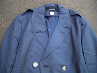 Vintage USAF US Air Force Vietnam Nam 1967 Overcoat Coat Wool Blue Men's 37 R