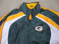 NFL Green Bay Packers Reversible NFL Football Game Jacket Coat Men's Size XLarge