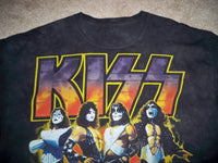 Retro KISS Catalog Print Black Rock T-Shirt 2009 Concert? Size XL Merchandise