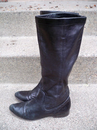 Frye 77968 Paige Mid Calf Riding Black Leather Womens Motorcycle Boots Size 7