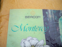 "New Old Stock Vintage Beacon Monterey 72"" By 90"" Polyester Blanket Made in USA"