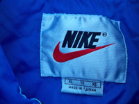 Vintage Nike Made in Taiwan Blue Nylon Track Running Coat Jacket Men's Size Xlarge
