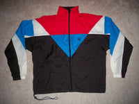VINTAGE JCPENNEY SEWN EMBROIDERED USA OLYMPICS JERSEY JACKET COAT SIZE LARGE