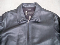 "Classic Eddie Bauer ""Stine"" Women's Black Leather Bomber Jacket Coat Size Large"