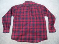 Vintage LL Bean Northwoods Plaid Lumberjack Cotton Shirt MEN'S Large Made in USA