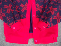 Vintage Woolrich Made in USA Snowflake Wool Womens Winter Snow Jacket Coat Small