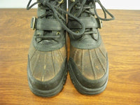 Vintage Polo Ralph Lauren Harness Combat Motorcycle Leather Women's Boots 6.5