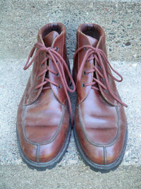 Vintage Eddie Bauer Leather Light Weight Work Hiking Backpacking Men's Boots 10