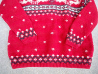 Vintage Ralph Ralph Women's Knit Wool Reindeer Ugly Christmas Sweater Size Large