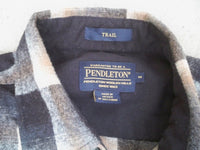 "Men's PENDLETON ""Trail"" Plaid Flannel Wool Board Shirt Size Medium Beach Boy"