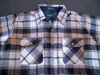 Vintage Campus 100% Acrylic Plaid Hunting Cabin Work Shirt Men's Size Large LG