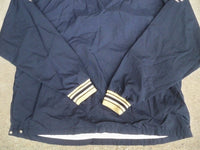 Champion Designed Tailored Notre Dame Blue Spellout Windbreaker Pullover VTG XL