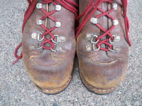 Vintage Raichle Hiking Boots Brown Leather Vibram Soles MADE IN SWITZERLAND Size 6