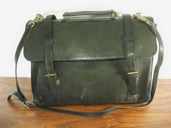 Vintage Wilsons Leather Attorney's Lawyer's Messenger Gusset Briefcase Brief Bag