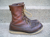 Vintage Red Wing Irish Setter Men's Work Hunting Motorcycle Leather Boots Size 7