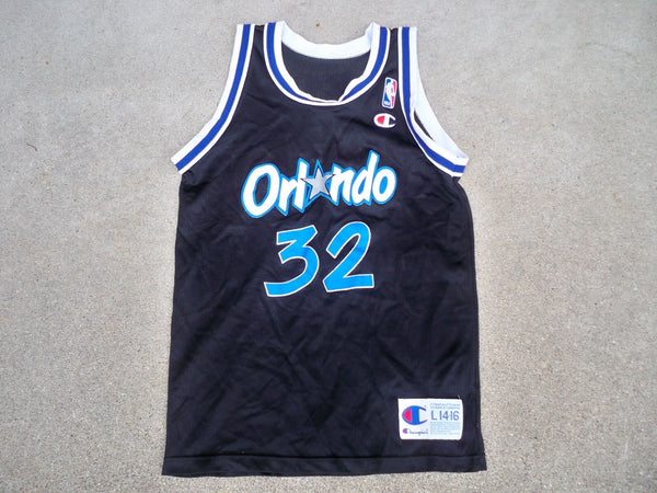 Vintage Champion Orlando Magic Shaquille O'Neal 32 NBA Basketball Jersey L 14-16