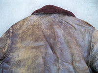 Vintage WW2 Era Civilian A-2 Leather Flight Men Jacket Pilot Army Horsehide Bomber M