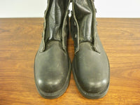 Vintage Black Leather Mens Combat Biker Riding Motorcycle Soft Toe Boots Size 11 D