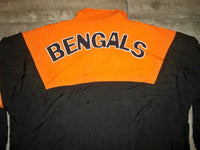 Vintage Apex One Cincinnati Bengals Football Mens Windbreaker Pullover Jacket Size XL