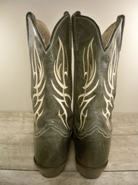 Classic Justin Cowboy Riding Rancher Western Women's Black Distressed Leather Boots Size 10