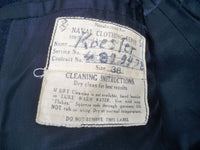WWII Vtg WW2 US Navy USN Naval Clothing Pea Coat Mens Named With Cord Pockets. Size 38