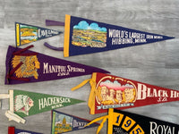 10 Rare Vintage Felt Flag Pennant State Parks Indian Manitou National & State Park Made in USA