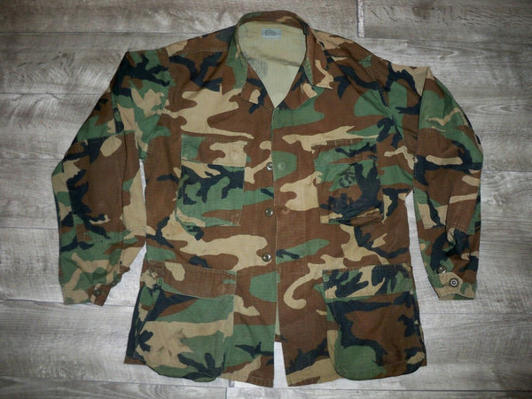 1960s US Army USMC Camo Hot Weather Coat Jungle Tropical Shirt Size Medium