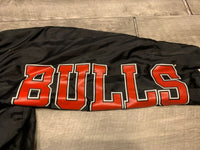 Vintage 90s Two Hype Action Ware By Salem Sportswear Chicago Bulls NBA Men's Windbreaker Pullover Jacket Size Large