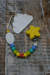 Rainbow Star | Paci Clip + Teether Tether || Limited Quantity
