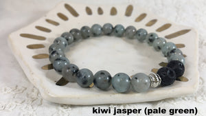 Lava Bead Essential Oil Diffuser Stacking Stretch Bracelet