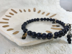 Leila | 40-Day Journey Bracelet in Blue Goldstone