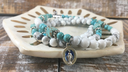 Paloma Rosary Stretch Bracelet | Double or Triple Wrap Style