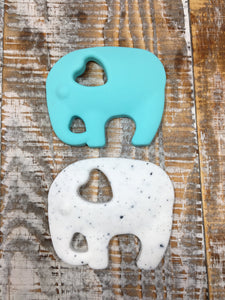 Elephant Add-On in White Speckle or Aqua