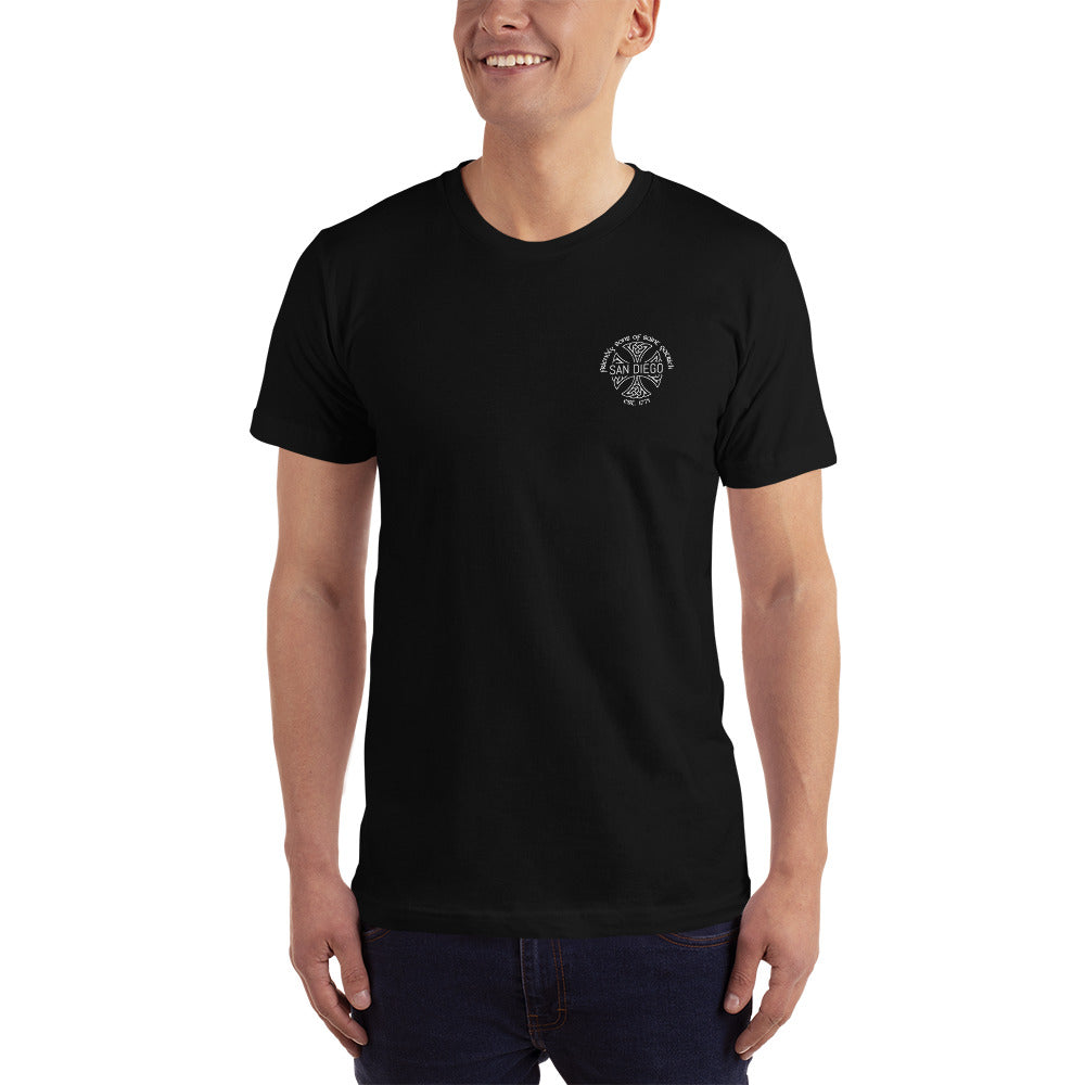 Friendly Sons of St. Patrick Basic Fitted Tee - Black