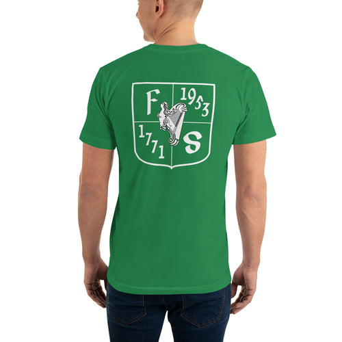 Friendly Sons of St. Patrick Basic Fitted Tee - Kelly Green