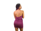 Sexy Moda Open Back Short Dress