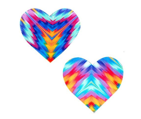 Aztec Rave Heart UV Nipztix Pasties