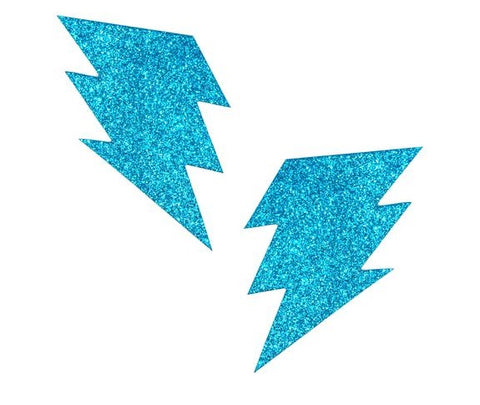 Bowie Blue Glitter Bolt Pasties