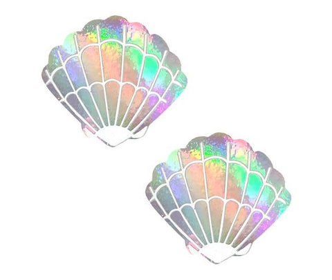 Care Bare Stare Holographic Mermaid Shell Pasties