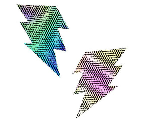 Liquid Party Holographic Storm Surge Bolt Pasties