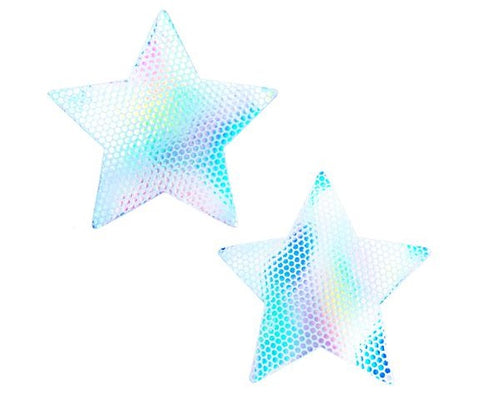Liquid Party Pure White Holographic Starry Nights Pasties