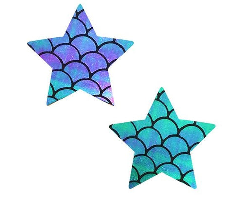 Mischievous Mermaid Iridescent Holographic Starry Nights Pasties