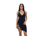 Maju Deep V Cross Back Dress