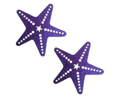 Purple Rain Glitter Sexy Starfish Pasties